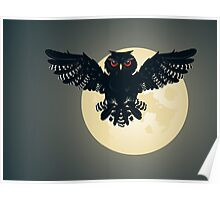 Owl and Full Moon 2 Poster