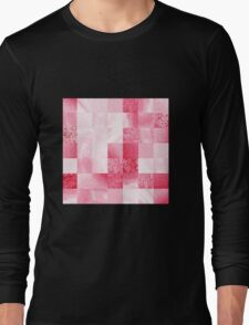 Baby Pink Marble Quilt III Long Sleeve T-Shirt
