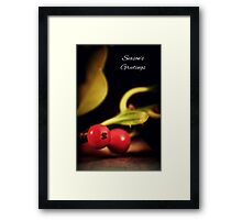 Holly Christmas. Framed Print