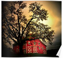 An Old Red Barn ~ Finley Refuge ~ Poster