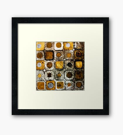 Golden Coins - Etching Framed Print