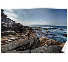 Coastal - Bondi Rocks Poster