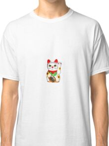 Asian Lucky Cat Maneki Neko Sticker Classic T-Shirt