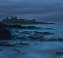 """Dawn Dunstanburgh Castle""  Northumberland by James  Key"