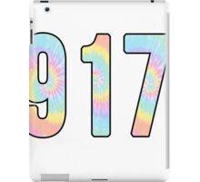 917 Area Code Sticker iPad Case/Skin