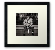 All dressed up for .... Framed Print