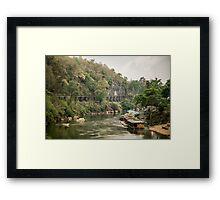 Kanchanaburi Railroad Framed Print