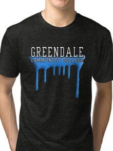 Community - Greendale Paintball Blue Tri-blend T-Shirt