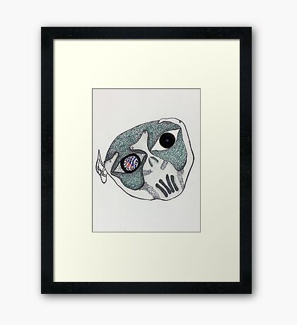 I used to be beautiful  Framed Print
