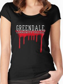 Community - Greendale Paintball Red Women's Fitted Scoop T-Shirt