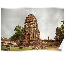 Ayutthaya Temple Poster