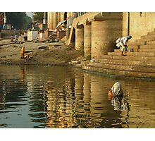 Bathing in the Ganges Photographic Print