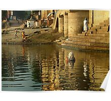 Bathing in the Ganges Poster