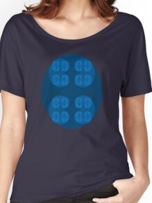 Golden Spiral Fractal Pattern - Blue Women's Relaxed Fit T-Shirt