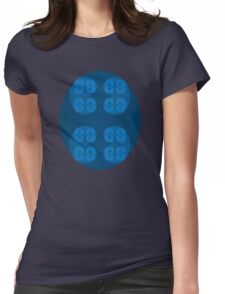 Golden Spiral Fractal Pattern - Blue Womens Fitted T-Shirt