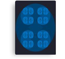 Golden Spiral Fractal Pattern - Blue Canvas Print