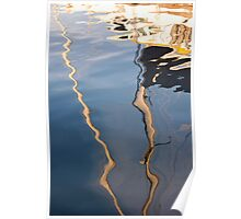 Yacht Reflections Poster