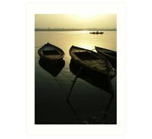 Boats of the Ganges Art Print