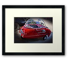 Smallest road-legal car ever produced Framed Print