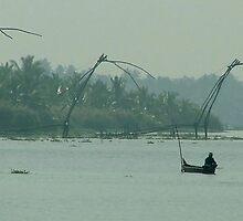 Chinese Fishing Nets at Kochi by SerenaB