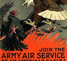 Patriotic Recruiting War Poster ~ ARMY AIR SERVICE ~ American Eagle 0590 by ContrastStudios