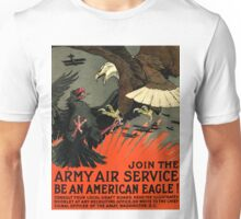 Patriotic Recruiting War Poster ~ ARMY AIR SERVICE ~ American Eagle 0590 Unisex T-Shirt