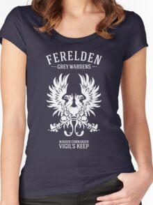 Grey Wardens - Warden Commander (light) Women's Fitted Scoop T-Shirt