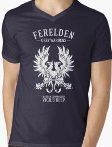 Grey Wardens - Warden Commander (light) Mens V-Neck T-Shirt
