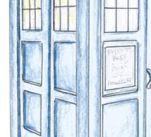 Tardis in Blue Sticker