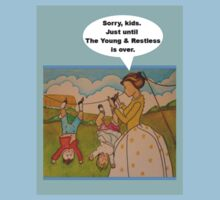 """Anti-""""Helicopter Parenting"""" to watch Y & R T-Shirt"""