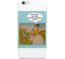 """Anti-""""Helicopter Parenting"""" to watch Y & R iPhone Case/Skin"""