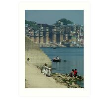 Peaceful Place Varanasi Ghats Art Print