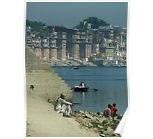 Peaceful Place Varanasi Ghats Poster