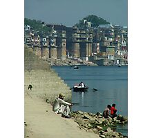 Peaceful Place Varanasi Ghats Photographic Print