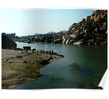 Riverside Rocks Poster