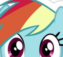 Rainbow Dash says Hi Sticker