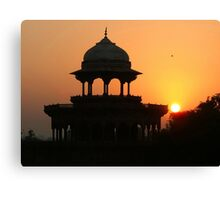 Sunrise at the Taj Mahal Canvas Print