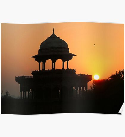 Sunrise at the Taj Mahal Poster