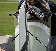 Close up of gunner in Junkers CL1 Replica by Andy Jordan