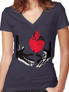 Literal interpretation of a clauda Women's Fitted V-Neck T-Shirt