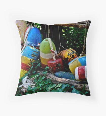 tie me a float Throw Pillow