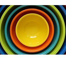 Fun Mixing Bowls Photographic Print