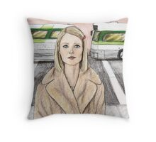 by way of the green line bus Throw Pillow