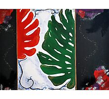 leaf collage painting Photographic Print