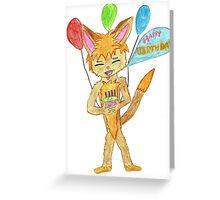 anime styl e birthday greeting card Greeting Card