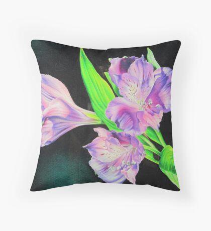 Peruvian lily Throw Pillow
