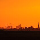 The Hague sunset skyline by Javimage