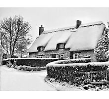 Winter Cottage Photographic Print