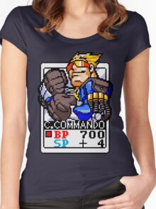 Captain Commando Women's Fitted Scoop T-Shirt