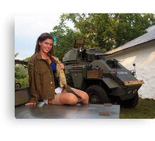 Michelle and the Humber Canvas Print